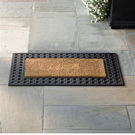 Coir And Rubber Doormat - rubber coir doormat 24 quot x 57 quot gump s