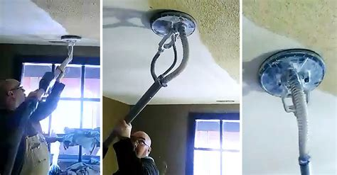 Textured Ceiling Removal Tool by Removes Popcorn Ceiling In Just Seconds With Zero Mess