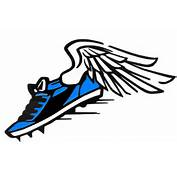 Track Spikes With Wings  Free Download Clip Art On