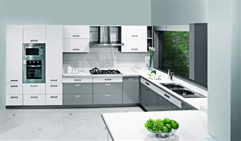 c kitchen silver sleek sophisticated c shaped kitchen design