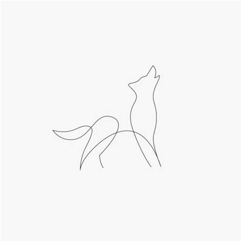 tattoo animal line wolf easy one line draw tiny tattoo animal sketch small