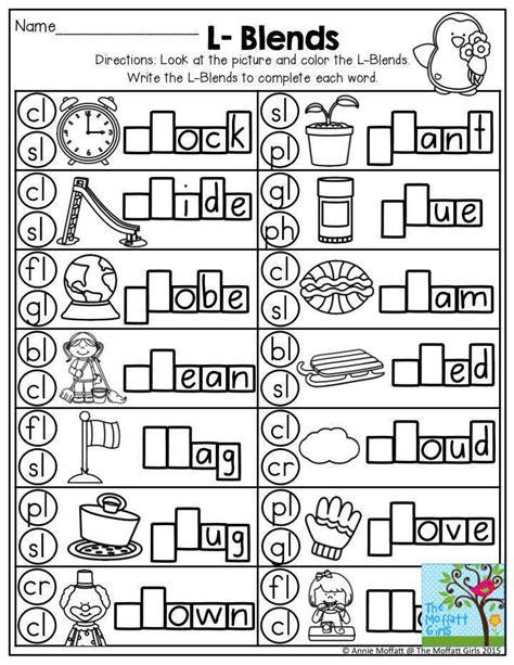 L Blends Worksheets l blends worksheets homeschooldressage