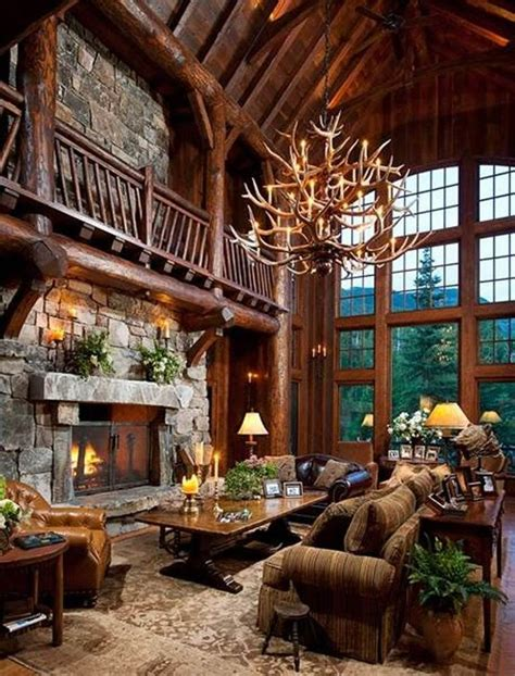 rustic country 38 rustic country cabins with a stone fireplace for a