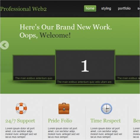 professional website templates free html with css jquery professional web2 template free website templates in css