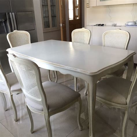 ivory dining table and chairs provencale ivory extending dining table six