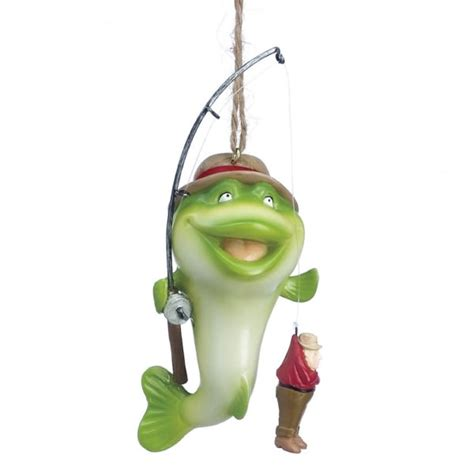fish with man fishing christmas ornament