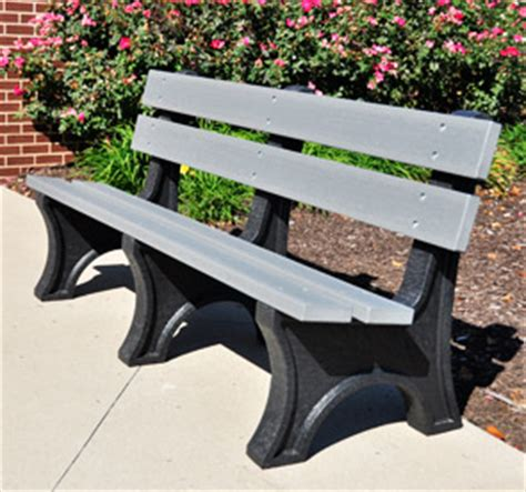 resin park bench colonial style resinwood recycled plastic park benches