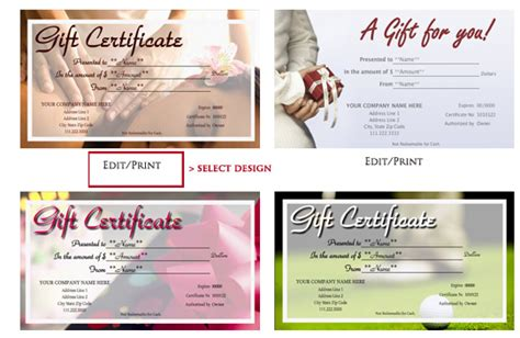 design your own printable gift vouchers learn how to design and print your own gift certificates