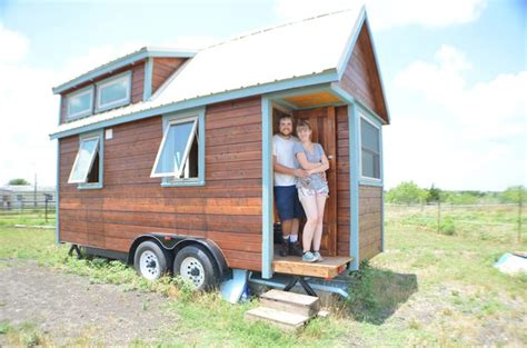 rv house couple living tiny in an austin tx rv park