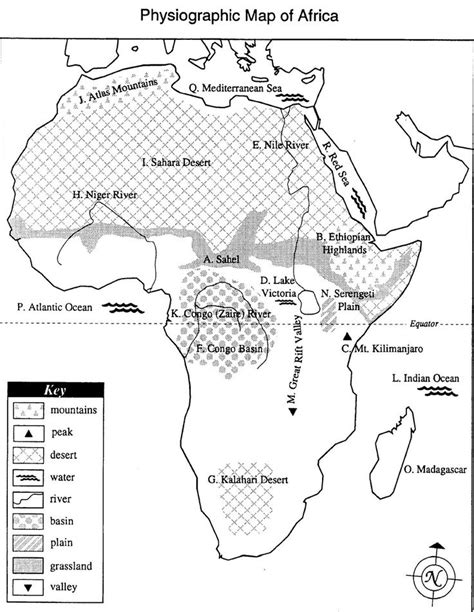 africa map 7th grade physiogeographic map of africa jpg 1238 215 1600 7th grade