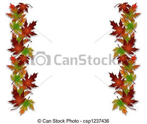 cornici autunno archivio illustrazioni di autunno foglie bordo cornice