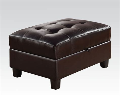 ottoman w storage ottoman w storage kiva espresso by acme furniture ac51197