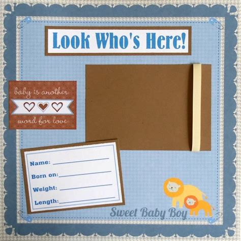 photo album layout sle boy scrapbook layouts sale baby boy 12x12 scrapbook