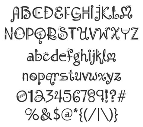 Printable Music Font | music note font alphabet www imgkid com the image kid