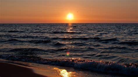 Baltic Sea Sunset Kolobrzeg Full Hd Wallpaper And Baltic Sea Wallpapers Hd Wallpapers Id 13262