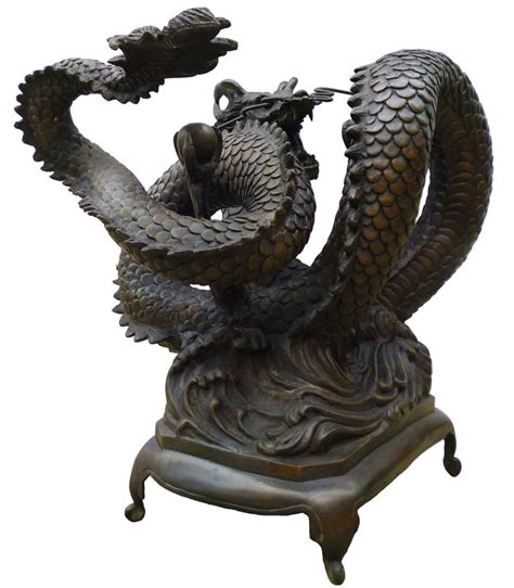 bronze chinese dragon coffee table