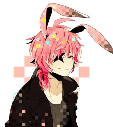 Anime Ears by Pink Bunny Ears Hair Anime Anime Boy Oc Ideas