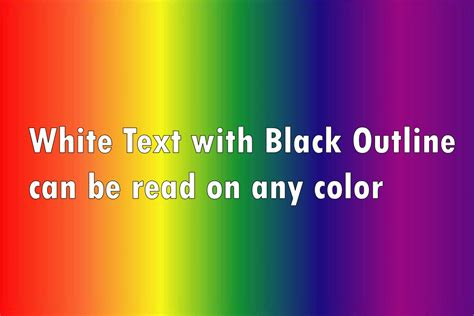 what is the best color what font colors are good for video titles and image captions