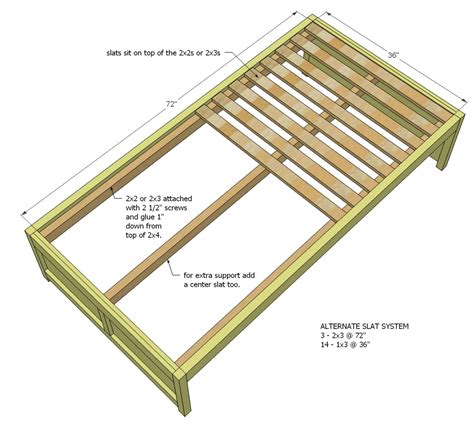2x4 Bed Frame Plans 2x4 Bed Frame Plans Http Www Jessehotel Nl Wp Content Bunk Bed Plans Images Frompo