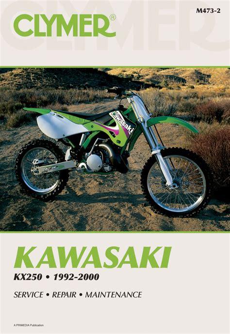 Kawasaki Kx250 Motorcycle 1992 2000 Service Repair