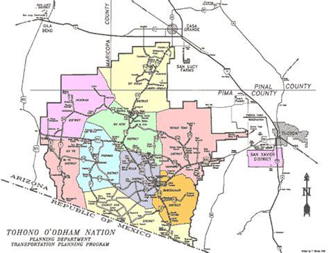 sells arizona map tohono o odham san xavier schuck toak and gila bend