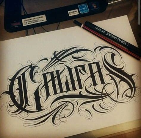 califas lettering pinterest chicano fonts and