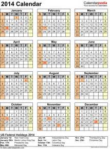 2014 calendar template with holidays 2014 calendar with federal holidays excel pdf word templates