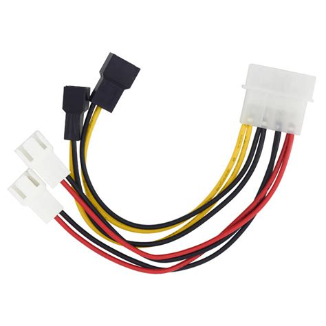 3 pin fan connector to 4 pin 6 inch ide molex 4 pin to case fan 3 pin tx3 multi
