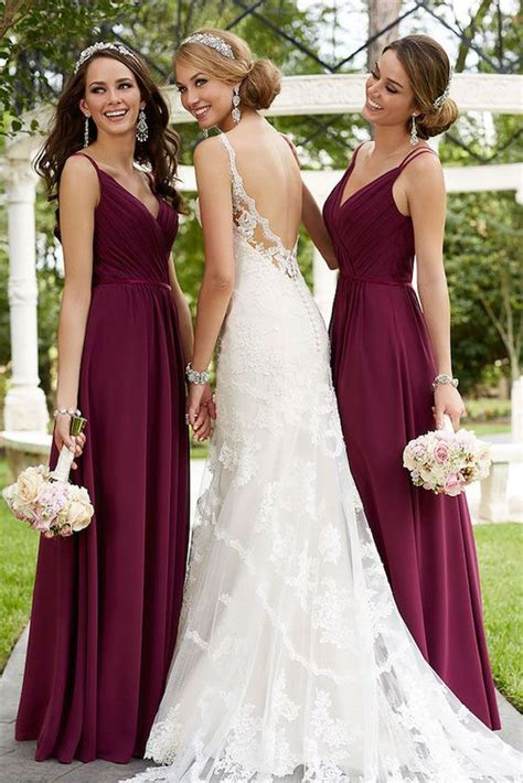fall dress colors best 25 burgundy wedding dresses ideas on