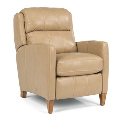 Discount Recliner Chairs by Flexsteel B3667 503m Reed Leather Power High Leg Recliner