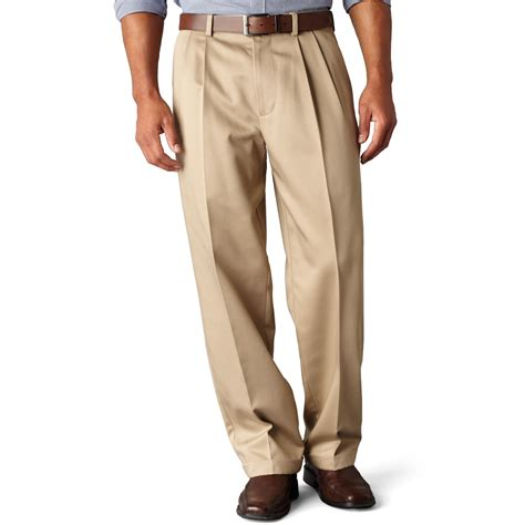 relaxed khaki dockers d4 relaxed fit neveriron essential pleated in khaki for khaki lyst