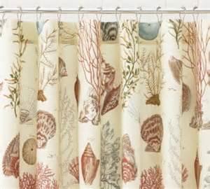 sea themed shower curtains pottery barn seaside starfish shells beachy theme