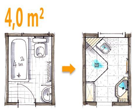 badezimmerplanung beispiele badplanung beispiel 4 qm spezielle duschl 246 sung im