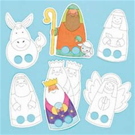 printable christmas paper finger puppets simple nativity crafts for kids on pinterest nativity