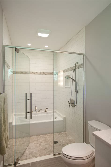 Bathroom Tub And Shower by Guest Bathroom With Tub Nest Designs Llc