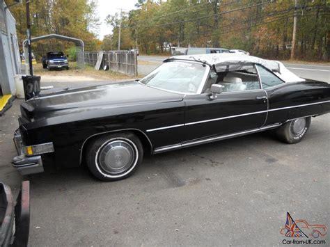 cadillac eldorado 1973 convertible cadillac convertible 1973 cadillac eldorado parade boot black
