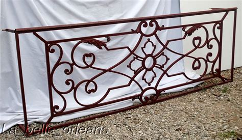 Home Decor Warehouse Sale A Superb French Wrought Iron Balcony Panel L K For