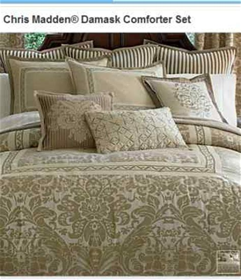 chris madden damask queen comforter set new chagne
