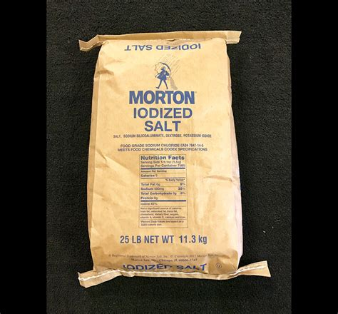 is table salt iodized morton iodized table salt salt