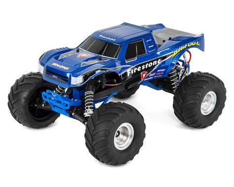 bigfoot 1 monster truck quot bigfoot quot 1 10 rtr monster truck firestone by traxxas