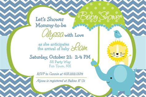 Elephant Baby Shower Invitation Boy By Asyouwishcreations4u Baby Shower Invitations Templates