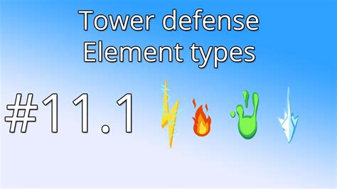 unity tutorial tower defence 11 1 unity tower defense tutorial element types youtube