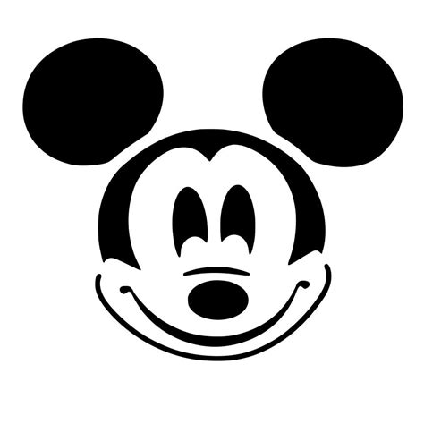 Mickey Mouse Silhouette Template by Mickey Mouse Ears Clip Cliparts Co