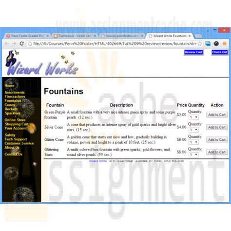 html tutorial review penn foster graded project 40266900 additional case 2
