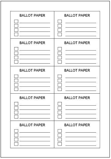 Voting Ballot Template Incheonfair Voting Ballot Template