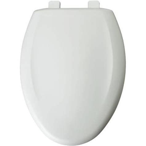 church elongated closed front toilet seat in white 380tca