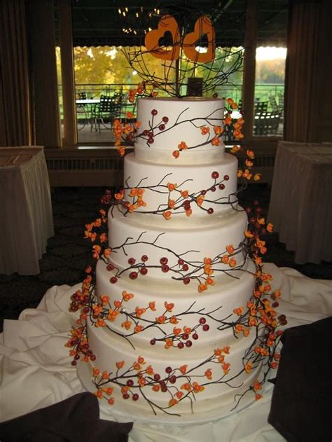 Simple Autumn Wedding Cake by Fall Wedding Cake How Might This Be Modified To Reflect