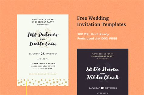 free of wedding invitation templates free wedding invitation templates pixelo