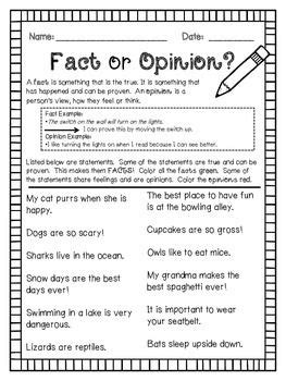 Fact And Opinion Worksheets by Fact Or Opinion Worksheet Freebie Kimberleebelle Tpt Store Worksheets And Facts