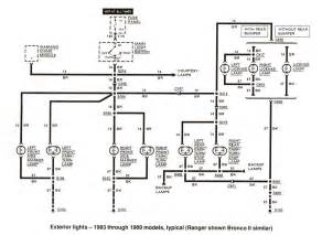 free auto wiring diagram 1983 1989 ford ranger exterior lights diagram